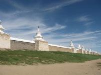 Karakorum, die ehemalige Hauptstadt mit seiner einmaligen Tempelanlage.