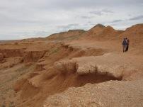 Der Saurierfriedhof - hier werden immer wieder Überbleibsel der ausgestorbenen Riesen gefunden.